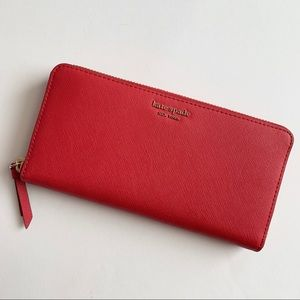 Kate Spade Red Continental Wallet